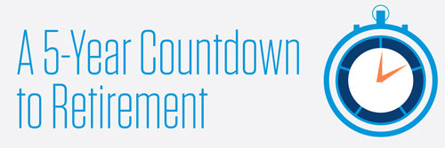 a 5-year countdown to retirement banner